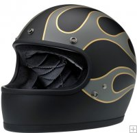 Casco GRINGO - LE FLAMES BLACK/GREY [0101-8751]