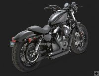 Escape Vance and Hines Shortshots Negros Sportster 07-16 [47219]