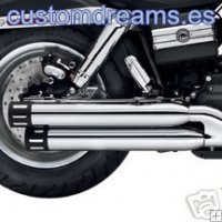 Colas de escape Screamin Eagle para HARLEY Dyna Fat Bob [80674-08A]