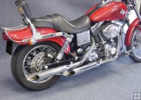 COLAS DE ESCAPE CYCLE SHACK PARA HARLEY DYNA 1991-2008
